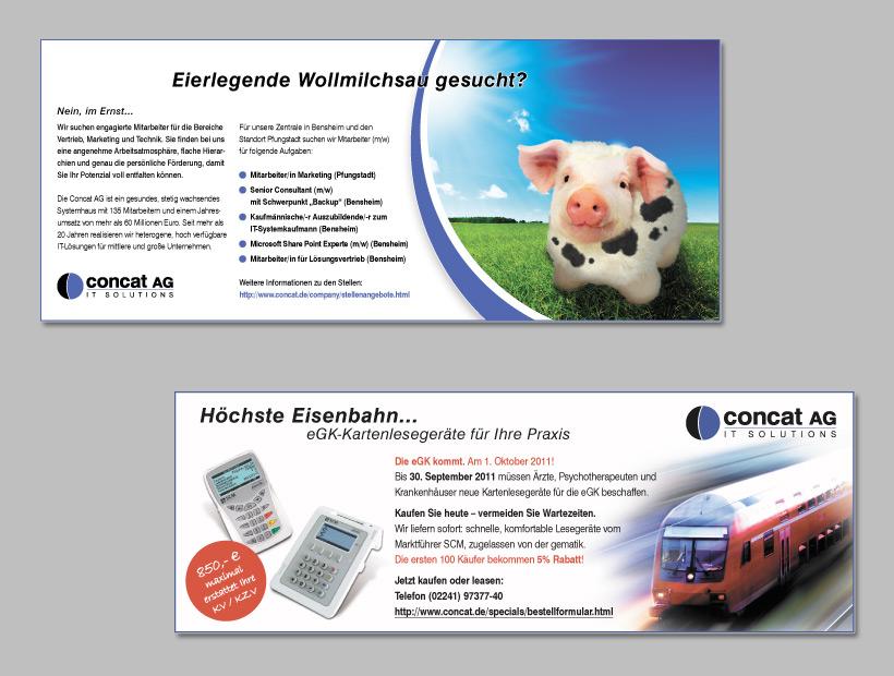 Anzeigenset für Printmedien - Concat AG
