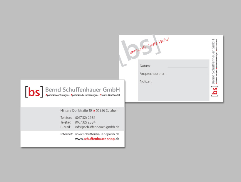 Bernd Schuffenhauer GmbH, Apothekendienstleistungen