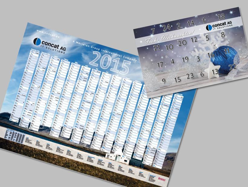 Jahres- und Adventskalender 2015 des Systemhauses Concat AG